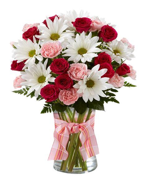 Mazzo Di Fiori Margherite.Regalare Fiori A Domicilio Spedisci Un Bouquet Di Rose E Margherite